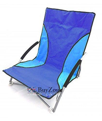 Silla plegable de playa, acampada, pesca plegable de jardín tumbona bajo asiento multicolor