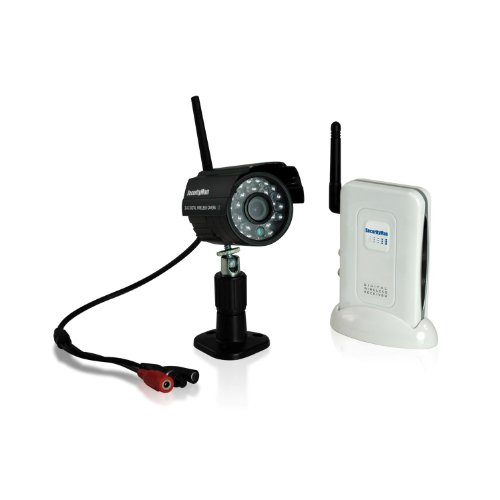 (Securityman DigioutAir Digital Wireless Outdoor/Indoor Color Camera Kit with Audio and Night Vision (Black))