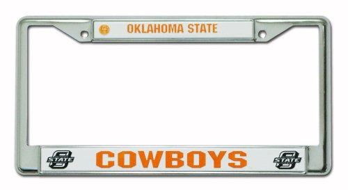 Rico Industries NCAA Oklahoma State Cowboys Standard Chrome License Plate Frame
