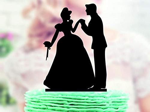 Wini2342ckey Prince Charming and Cinderella, Wedding Cake Topper,