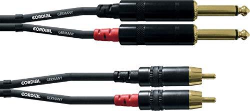 CORDIAL Audiokabel dubbele klink Mono/Rca 3 m