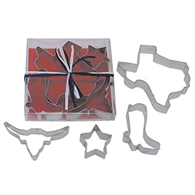 R & M Texas State 4 Piece Cookie Cutter Set