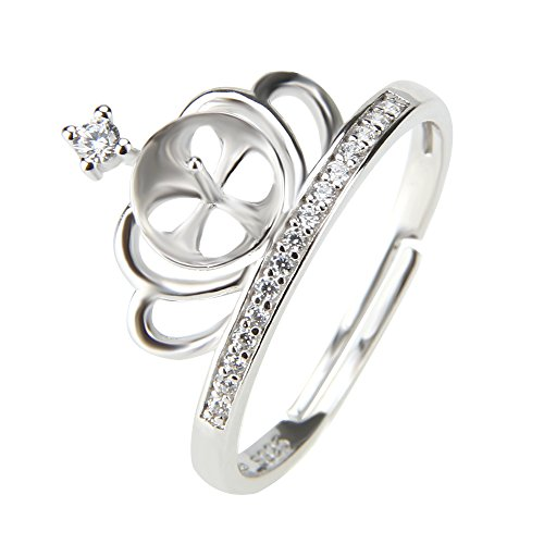 Sterling Mounting - 1 Piece Crown Shape 925 Sterling Silver Adjustable Pearl Fitting/Accessories/Mounting