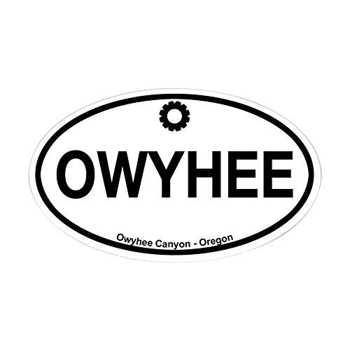 CafePress Owyhee Canyon Oval Bumper Sticker, Euro Oval Car Decal