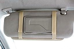 DB.WOR Car CD Visor Organizer - Multi-Purpose Auto Car CD Visor Organizer with 8 CD or DVD 3 Credit Card 1 Sun Glasses 1 Pen(Beige)