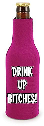 (Coolie Junction Drink up Bitches Funny Zipper Bottle Coolie, Neoprene)