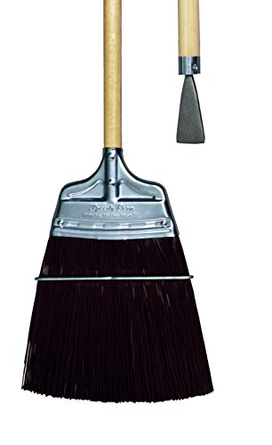 Metal Shed Brown Trim - Milwaukee Dustless Brush, Track broom, brown poly, wood handle with steel chisel