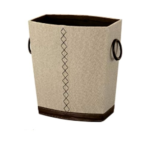 center Reusable Recycling Bin Trash Can, Outdoor and Indoor Fabric Beige Tall Commercial Garbage Recycle Bin for Kitchen and Bathroom & E-Book ()