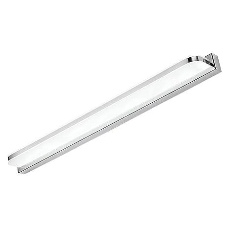 Moderno LED Lámpara de Pared Baño Aplique Espejo de Acero Inoxidable IIluminacion Baño con Lámpara para Espejo de Baño Luz Blanco 6000K [Clase de ...