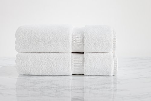 Standard Textile Hotel Luxury Lynova Bath Towels (30'' x 60''), 100% Cotton, Set of 2 by Standard Textile