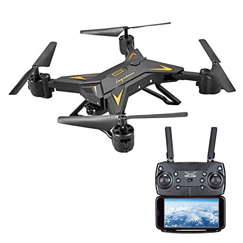 1080P 5.0MP Camera Foldable Quadcopter Drone,123Loop Foldable WiFi FPV RC Quadcopter Drone with 1080P 5.0MP Camera Selfie Drone (Black)