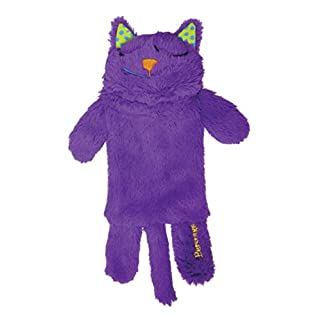 Petstages Purr Pillow Cat Toy For Nightime Play and Calm Comfort Featuring Soothing Noisemaker, Soft Plush Material