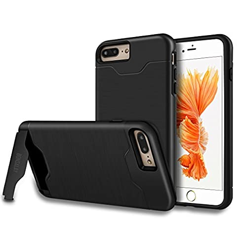 iPhone 7 Plus Case, [Card Slot] [KickStand] bonsalay Dual Layer Soft TPU&Hard PC Shockproof Anti-Scratch Cases Cover with Hybrid Cover For Apple iPhone 7 Plus(2016)- (One Direction Phone Case Cheap)