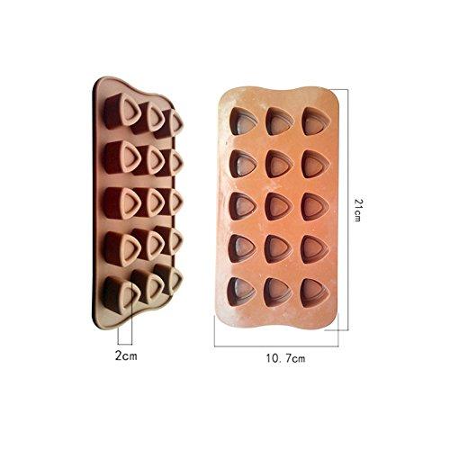 En forma de corazón 3d molde de silicona para tartas para horno ...