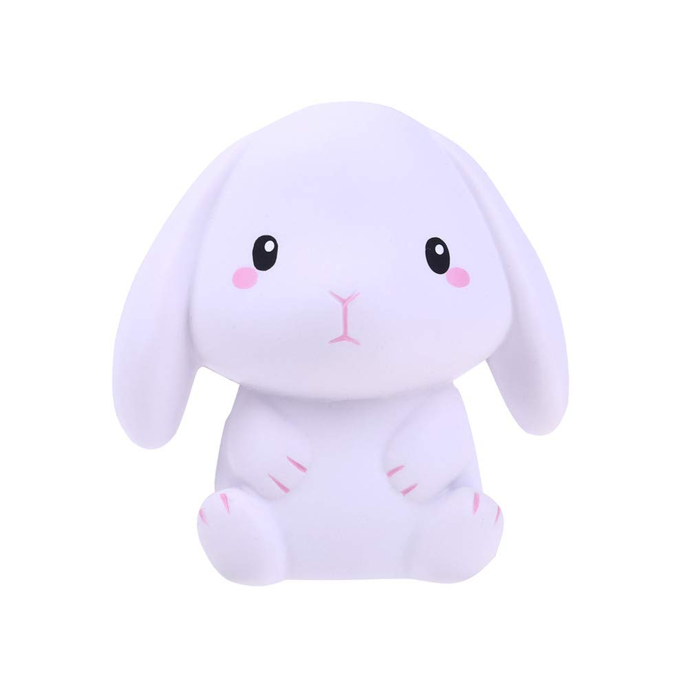 Dianli Squishies Adorable White Rabbit Super Slow Rising Squeeze Sweet Scented Fun Toys Collection Anxiety Relief Hop Props, Mini Decorative Props for Kids