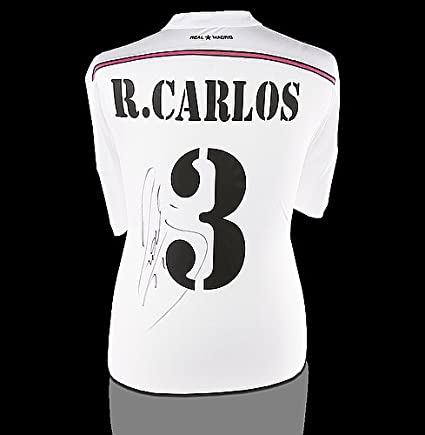 new concept b370f 605a4 Roberto Carlos Back Autographed Signed Real Madrid 2014-15 ...