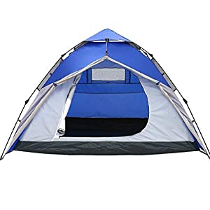 KH3S 3-4 Person Outdoor Tent 210 210 145cm Double Layer Camping Tent Hydraulic Automatic Waterproof Big