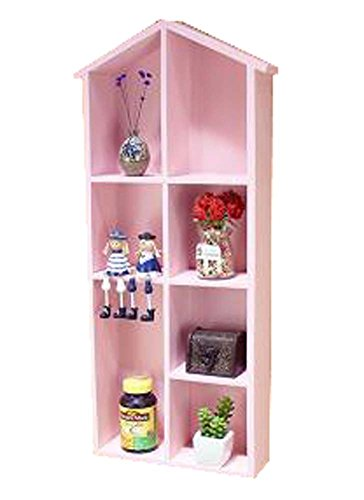 Lovely Creative Wood Storage Shelves Storage Rack Wall Hanged, Pink by DRAGON SONIC