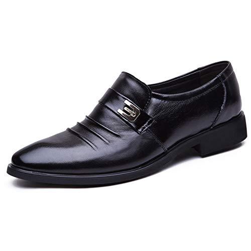 da 461 Scarpe black Pelle Stringate Slip on Derby Uomo Scarpe Vera in 7nwUqfBBT5