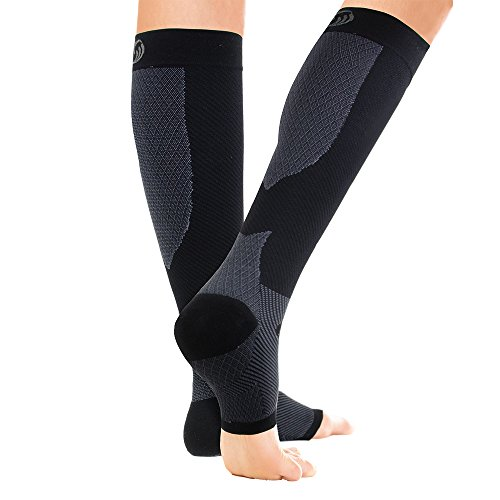 OrthoSleeve FS6+ Compression Foot and Calf Sleeve (Pair) (Black, XX-Large)