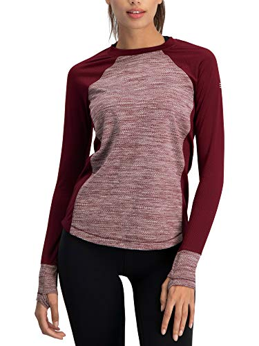 c3cf5772814 Long Sleeve Compression Workout Tops for Women - Thermal Running Shirt