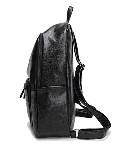 Travel Voguezone009 Ccaybo181709 Shoulder Bags Black School Backpacks Daypack Black Weekender Women w11TgZ