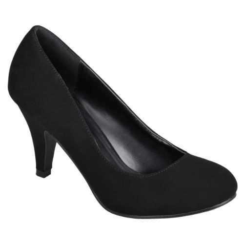 Color Toe Black Suede Womens Journee Solid Round Collection Pumps AXnROq6