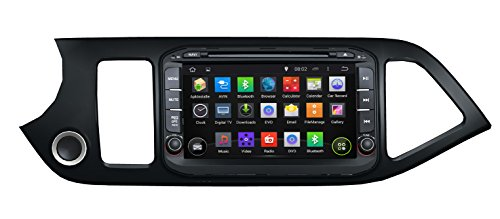 KUNFINE Android 6.0 Otca Core Car DVD GPS Navigation Multimedia Player Car Stereo For KIA Morning Picanto 2011 2012 2013 2014 2015 2016 Steering Wheel Control 3G Wifi Bluetooth Free Map Update 8 Inch