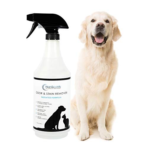 NonScents Pet Odor & Stain Remover Spray, 32oz - Eliminates Pet Smells & Stains - Use on Carpets, Sofas, Pee Pads - Outperforms Baking Soda & Enzymes from NonScents