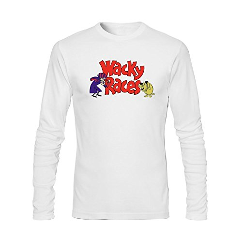 Extremen Men's Wacky Races Long Sleeve T Shirt White