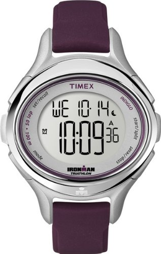 Timex Women's T5K498 Ironman All Day 50-Lap Plum Silicone Strap Watch