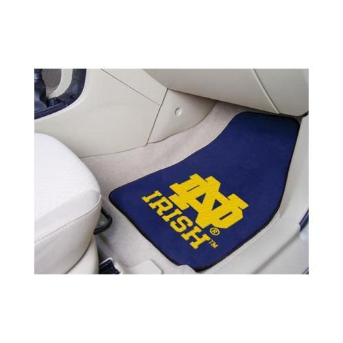 Fanmats NOTRE DAME FIGHTING IRISH 2-PIECE CARPETED CAR MATS