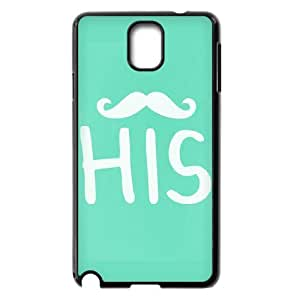 AKERCY Stylish His and Hers Hubby Wifey Matching Couple Phone Case For Samsung Galaxy note 3 N9000 [Pattern-1]