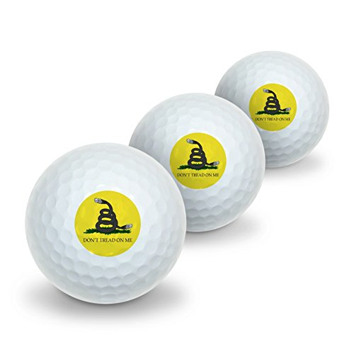 Net Neutrality Don't Tread on Me Novelty Golf Balls 3 Pack by Graphics and More