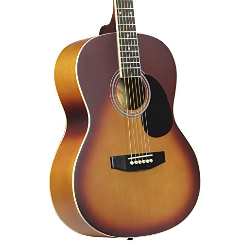 Kona Guitars K391-HSB Parlor Series Acoustic Guitar with Precision Enclosed Tuners