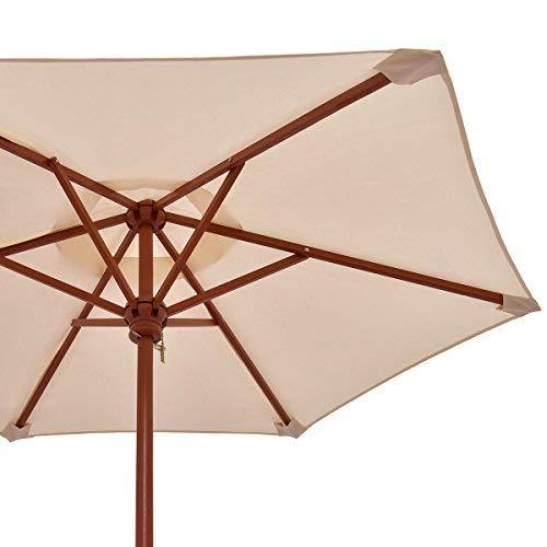 Costzon Kids Picnic Table & Bench Set, 4 Seat w/Folding Umbrella