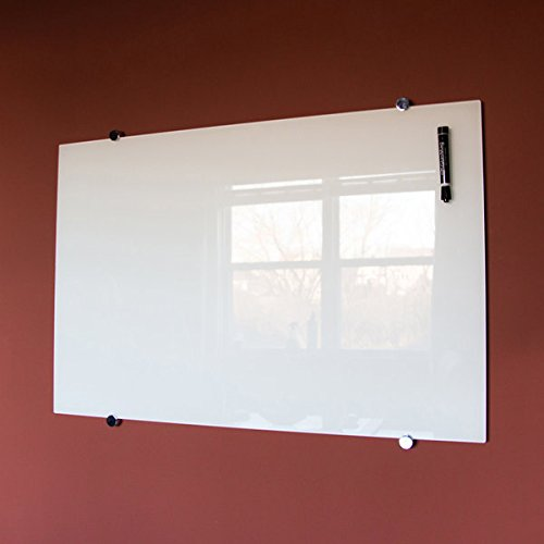 TableTop King WGB6040M 60'' x 40'' Wall-Mounted Magnetic Glass Presentation Board by TableTop king