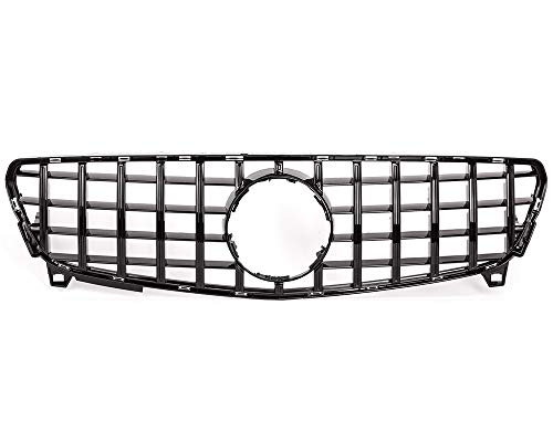 KARPAL FRONT GRILLE fits W176 A-CLASS Vertical BARS GLOSSY BLACK GT ()