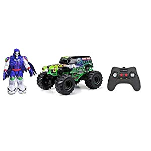 - 41x2ZNQrisL - 1:10 Scale R/C F/F Monster Jam Truck with Grave Digger Action Figure