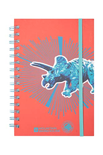 Mountain Warehouse Explorer Triceratops Notepad - A5 Size Notebook Pale Blue