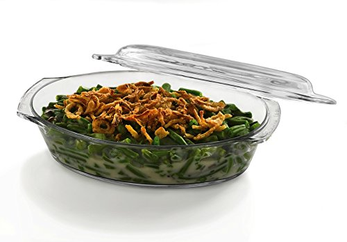 - Libbey Baker's Basics Glass Oval Casserole with Cover
