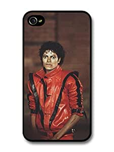 Michael Jackson Red Suit Thriller King of Pop case for iPhone 4 4S