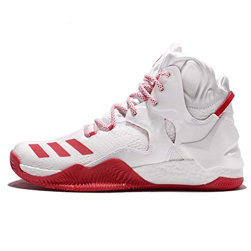 adidas Performance Herren D Rose 7 Basketballschuh Weiß / Strahl Rot / Weiß
