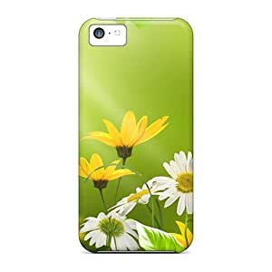 For AbbyRoseBabiak Iphone Protective Cases, High Quality For Iphone 5c Beautiful Wild Flowers In The Meadow Skin Cases Covers