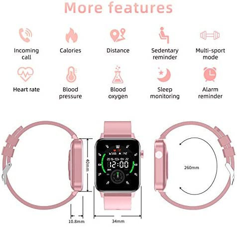 """Smart Watch, HAOQIN VS2 Activity Fitness Tracker with Heart Rate Monitor, IP68 Waterproof Pedometer, 1.4"""" Touch Screen Step Counter, Sleep Monitor, for Men Women, Compatible with iphone Android telephones"""