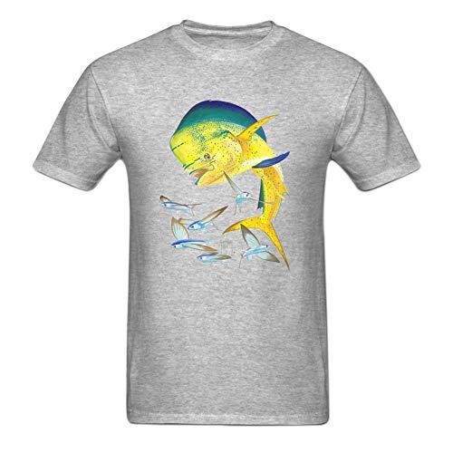 Kimwei Men's Bull Dolphin Printing DIY Tshirt Great Tee for Men M Grey