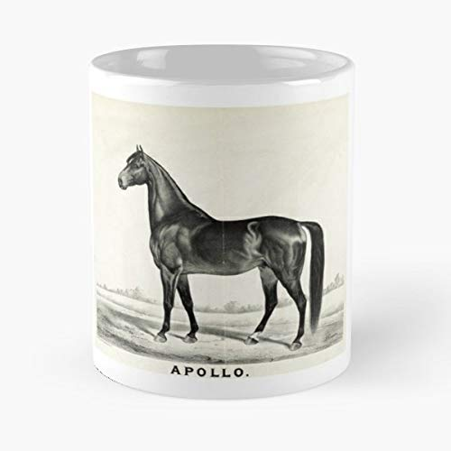 - Reproduction Popular 19Th Century Lithograph Currier Americana Sired Seneca Chief Horse Equine - Best 11 oz Coffee Mug Cheap Gift