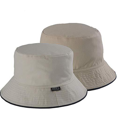 2018 Solid Bucket Hats Men Reversible Two Sides can wear 100% Cotton Sun bob Cap Comfortable Fisherman hat ()