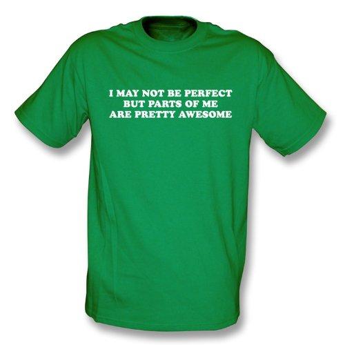 TshirtGrill Ich bin möglicherweise nicht perfektes T-Shirt, Farbe- Kelly-Grün