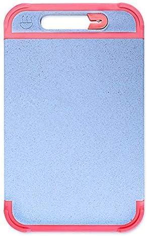 Lnspirationalギフトインテリアアクセサリーオーガニック小麦ストローチョッピングボードジュースグルーブキッチンカッティングボードノンスリップエッジフルーツパンカービングボード-ピンクS